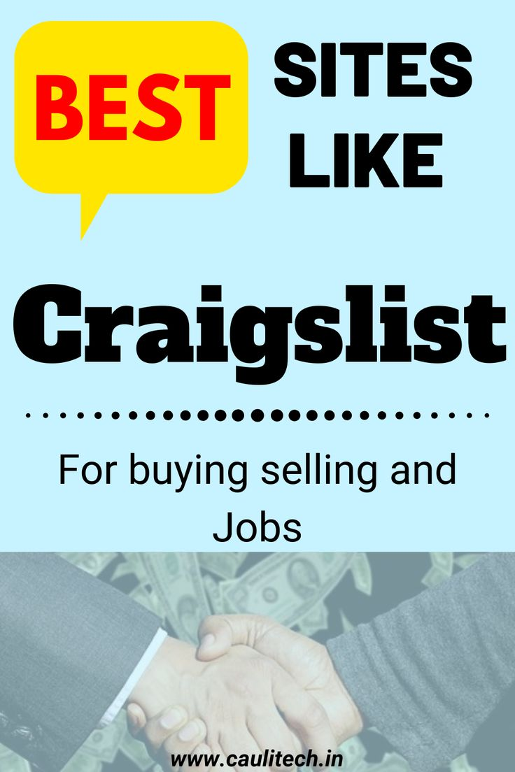 Best sites like craigslist for buy sell and jobs site