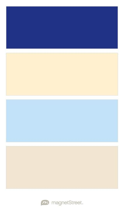 Indigo, Pale Peach, Sky, and Champagne Wedding Color Palette - custom color palette created at MagnetStreet.com