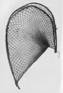 Photo of an aboriginal fishing net made from fibre