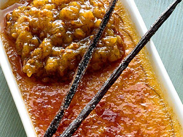 Vanilj och hjortron brûlée