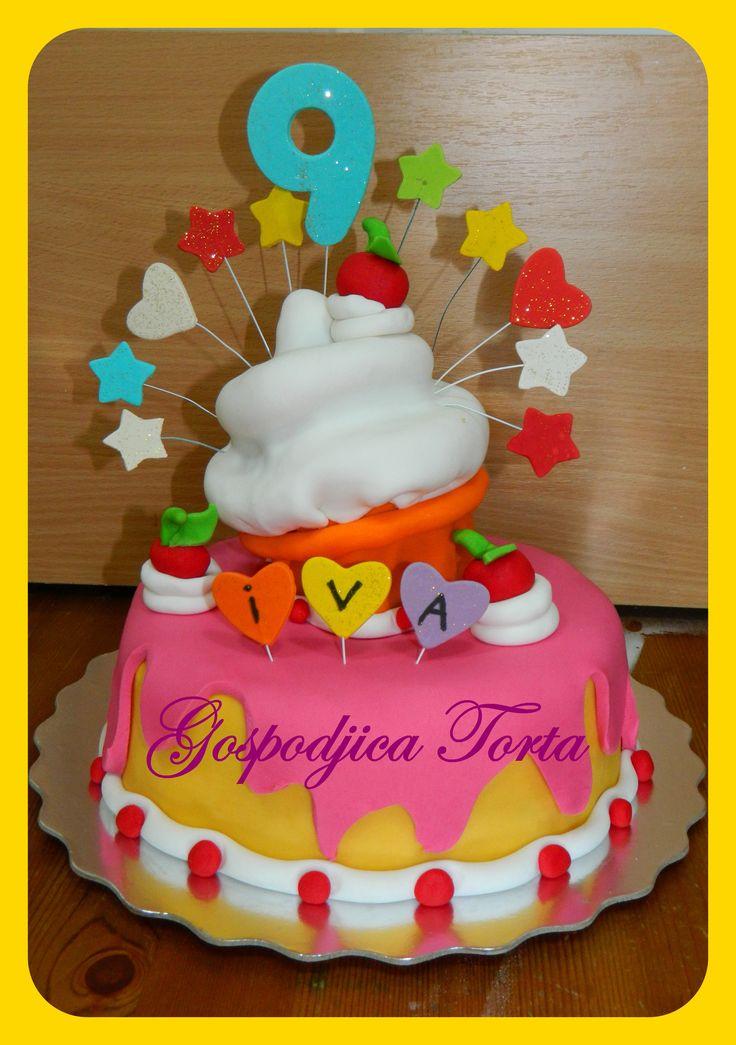{Birthday Cup Cake}  #amazingcupcakerecipes