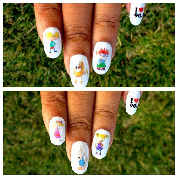 Awesome Nail Decals | Community Post: 43 Pieces Of Awesome TV Merch For 90s Kids
