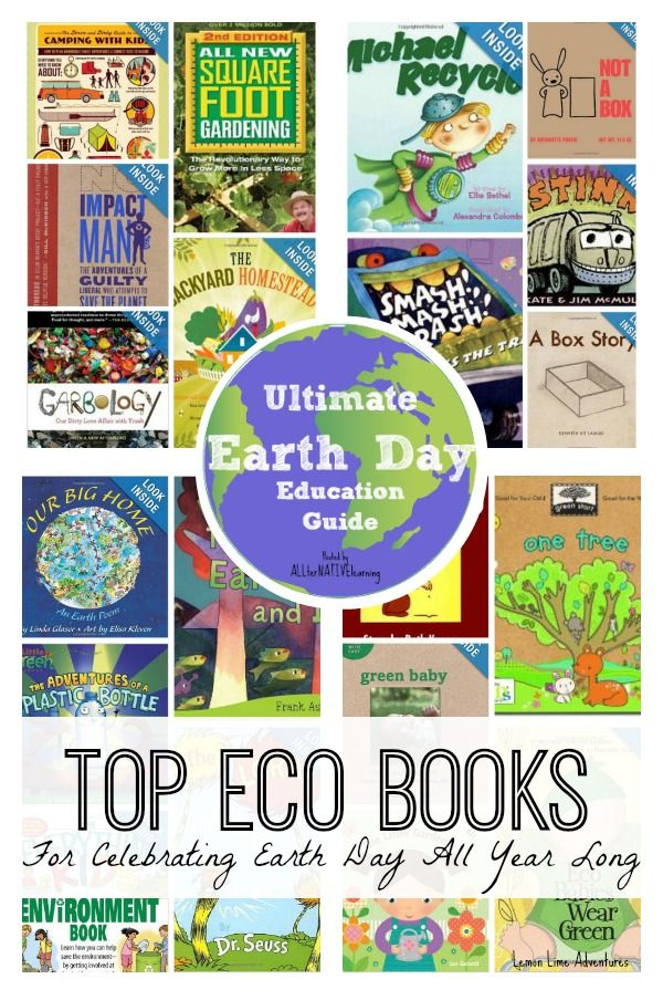 Celebrate Earth Day All Year Books: Top book ideas for your next library trip or second hand trip. #earthday #greenliving