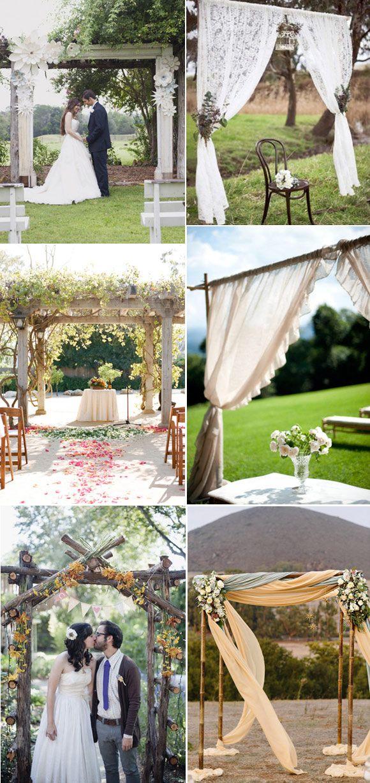 Bonitas ideas para decorar la ceremonia el día de vuestra boda al aire libre.