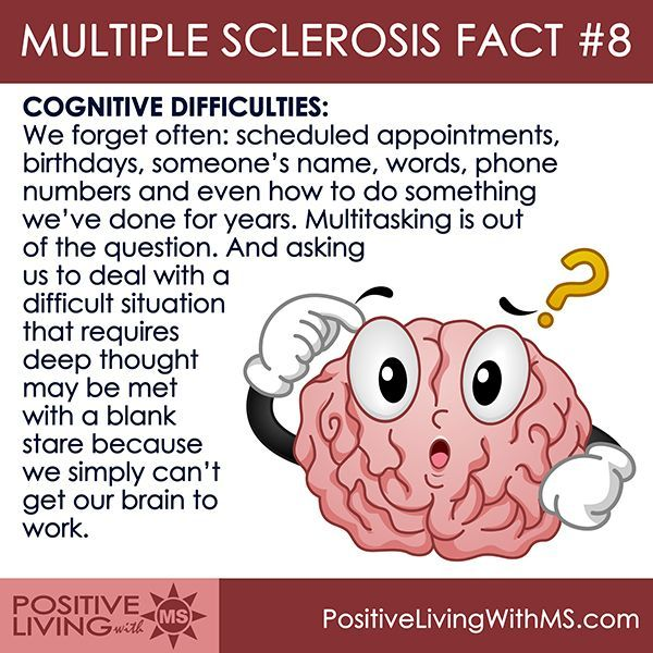MS Fact #8: Cognitive difficulties
