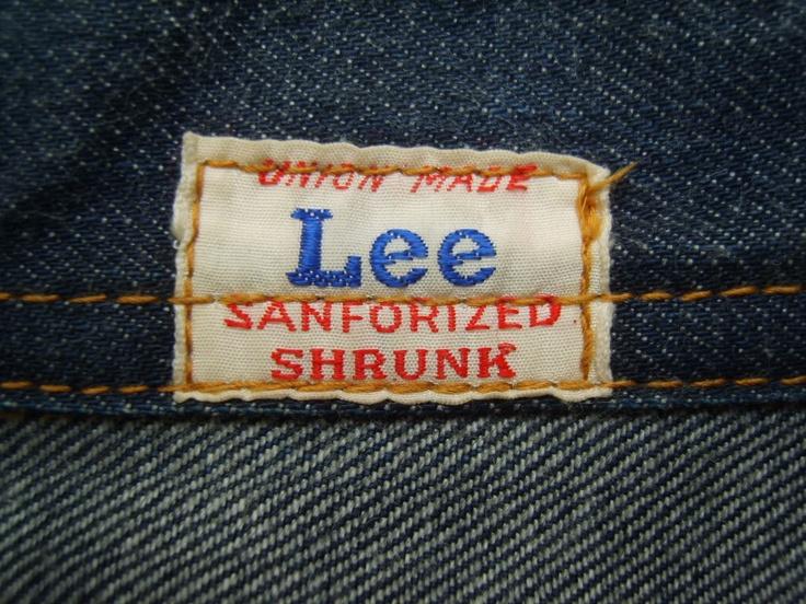 H.D.Lee & co, sanforized