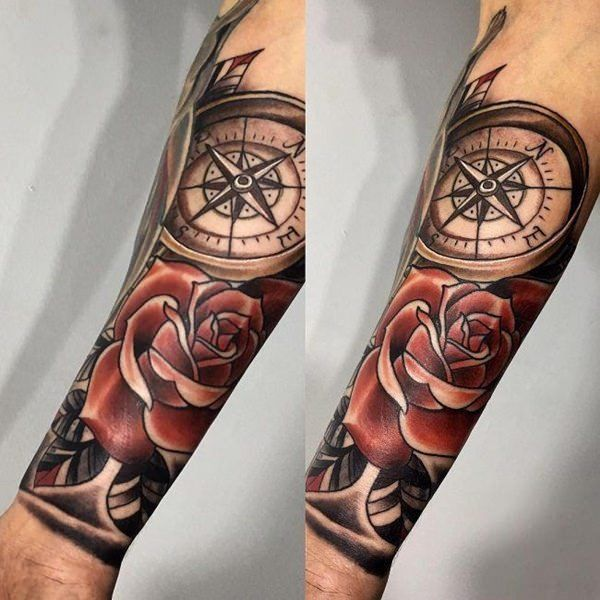 110 Best Compass Tattoo Designs Wild Tattoo Art Compass Tattoo Design Compass Tattoo Men Nautical Compass Tattoo