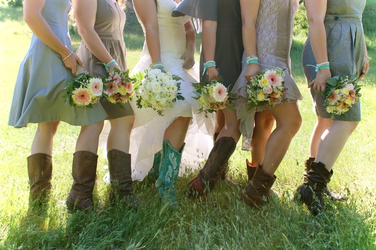 Love the boots, love the different style dresses, not the colour though