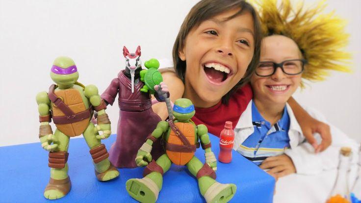 Super oyunlar - Emir, Arseny ve Ninja Kaplumbağaların macerası. Çocuk oy...