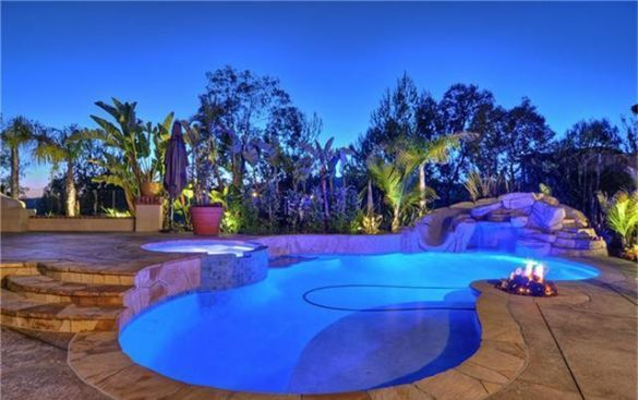 Backyard Pov At Night : 1000+ images about Luxurious Pool Design on Pinterest  Pools