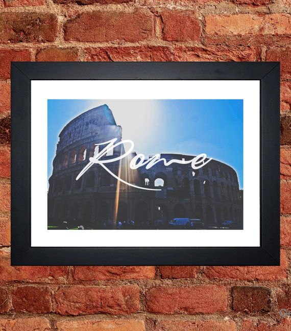Rome Colosseum Print - Digital download.