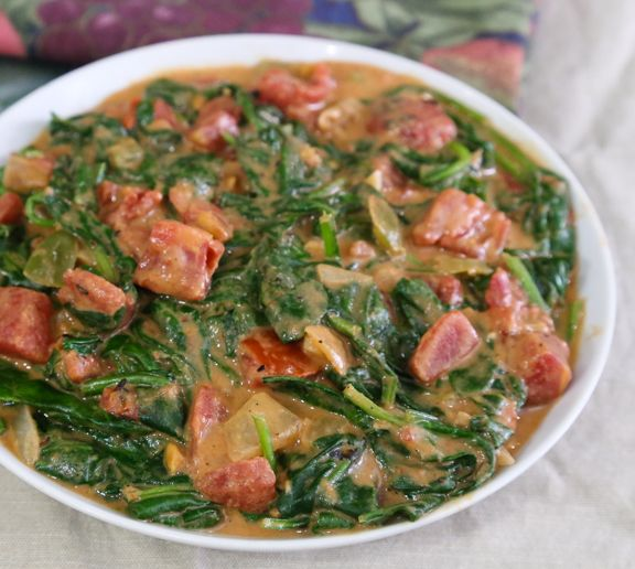 23 best kylie kwong images on pinterest kylie chinese food and west african spinach with spicy peanut sauce forumfinder Gallery