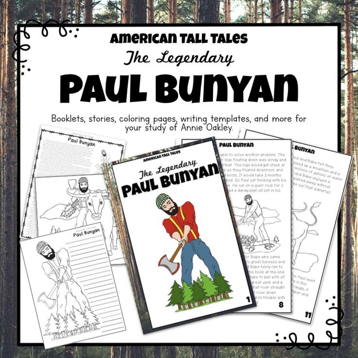 Tall Tales Unit Paul Bunyan Tall Tales Activities Tall Tales