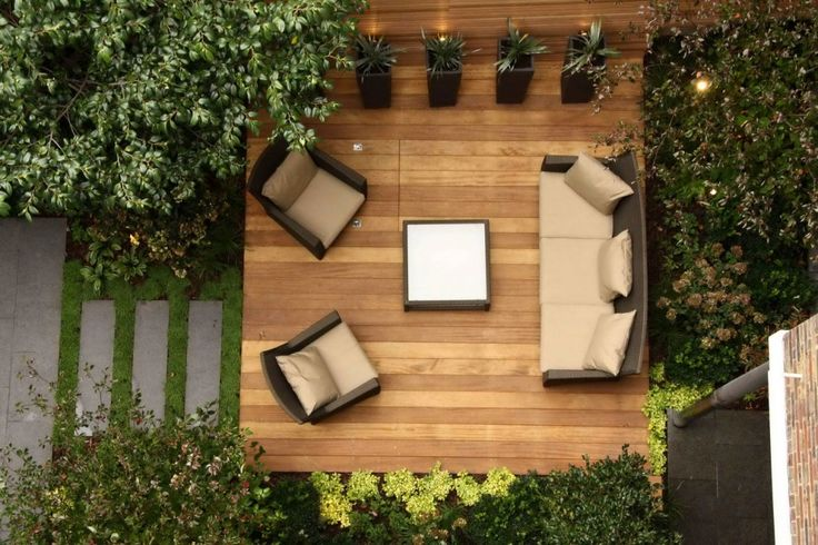 Modern Backyard Sitting Area  - http://mostbeautifulgardens.com/modern-backyard-sitting-area/