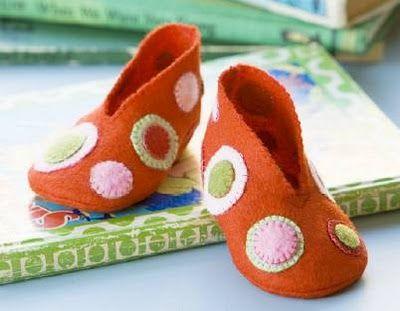 Blog do passo a passo: sapatos de bebê e tênis de feltro passo a passo pap moldes