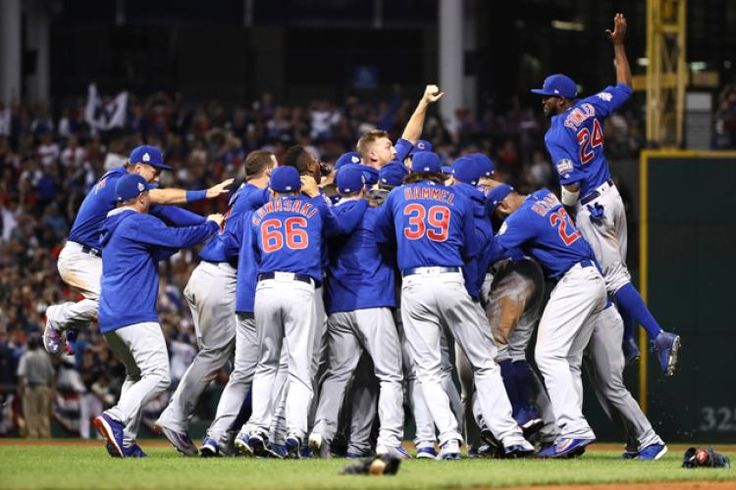 November 2016 - It took 108 years, but the greatest championship drought in sports history is finally over.  The Cubs celebrate their first World Series since 1908.  (EZRA SHAW/GETTY IMAGES)