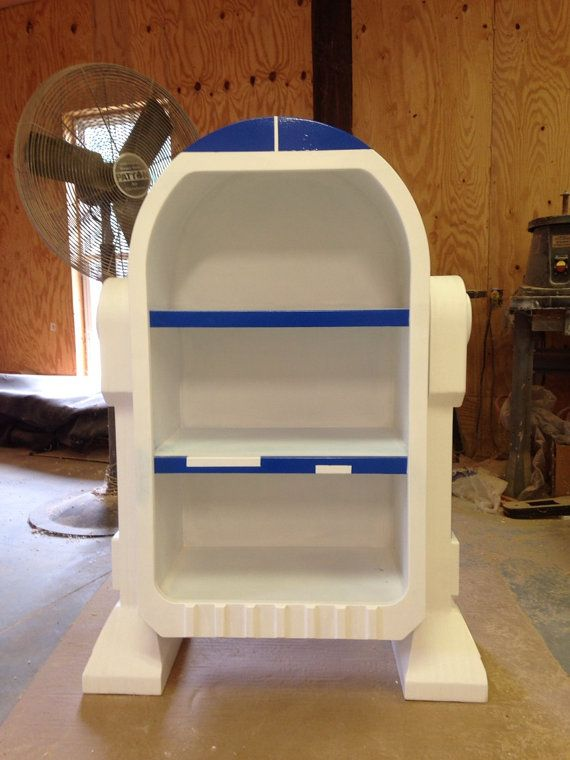 Star Wars R2D2 Droid styled bookshelf storage unit by WoodCurve