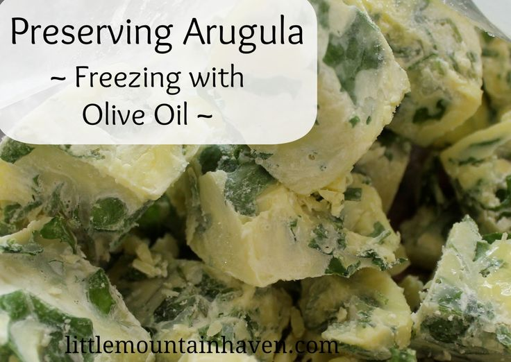How To Preserve Arugula By Freezing In Olive Oil Cubes