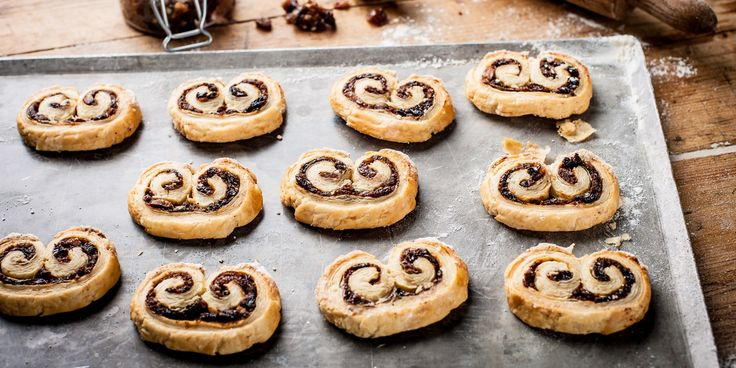Adam Byatt's mincemeat palmier recipe is a great alternative to traditional mince pies at Christmas, and would be perfect for some festive family baking, too.