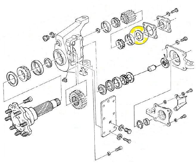 seal set  input  geared hub  h1 geared hubs  u0026 seals