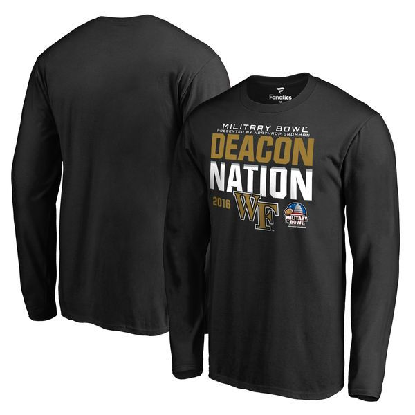 Wake Forest Demon Deacons Fanatics Branded 2016 Military Bowl Bound Nation Long Sleeve T-Shirt - Black - $27.99