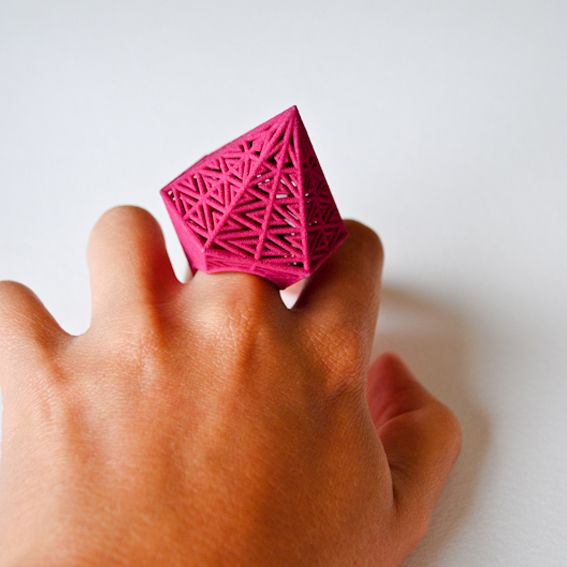 Fantastic Hexagonal 3D ring by Theresa Burger!