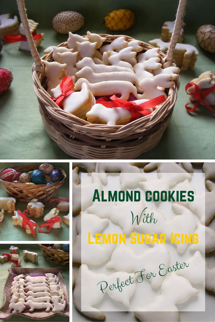 Bake these yummy almond cookies with lemon sugar icing for upcoming Easter. They are so delicious!