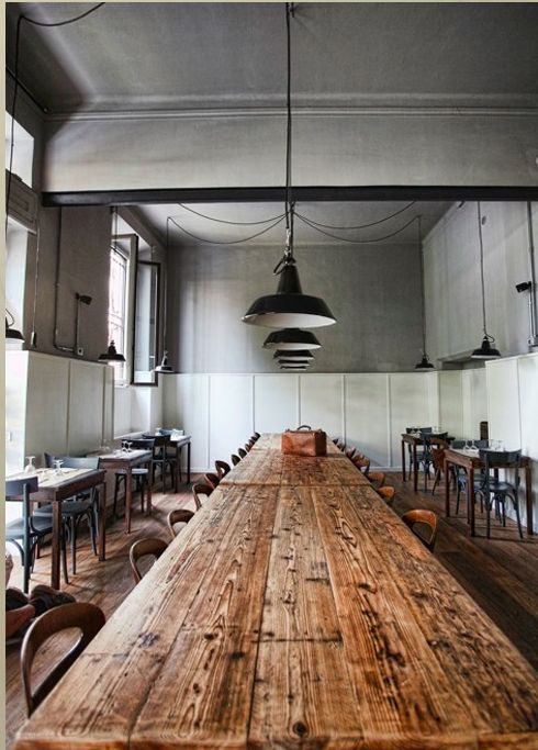Long wooden table. must have for our huge family