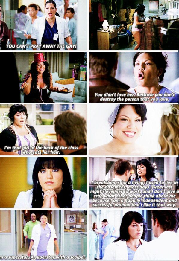 Grey's Anatomy - Callie Torres she is my favorite.
