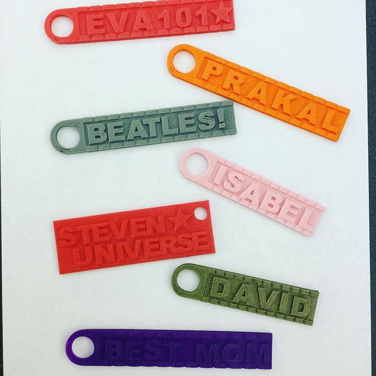 Some of the keychains designed in our Learn to 3D Print workshop as part of our…