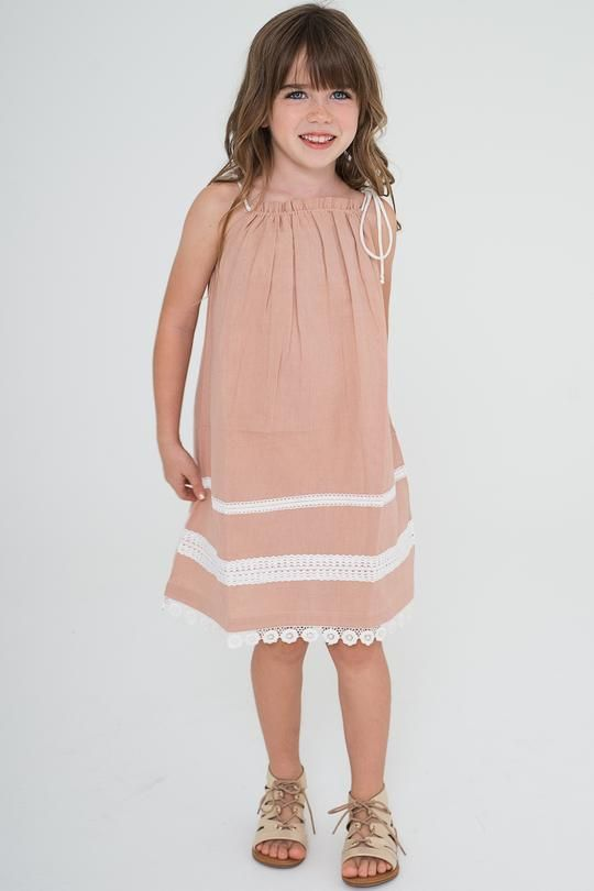 66a717eb16 Blush Pillow-case Lace Dress - Kids Clothing