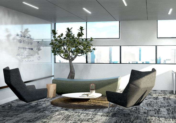 Espace de brainstorming relaxant Design bureaux par Splend