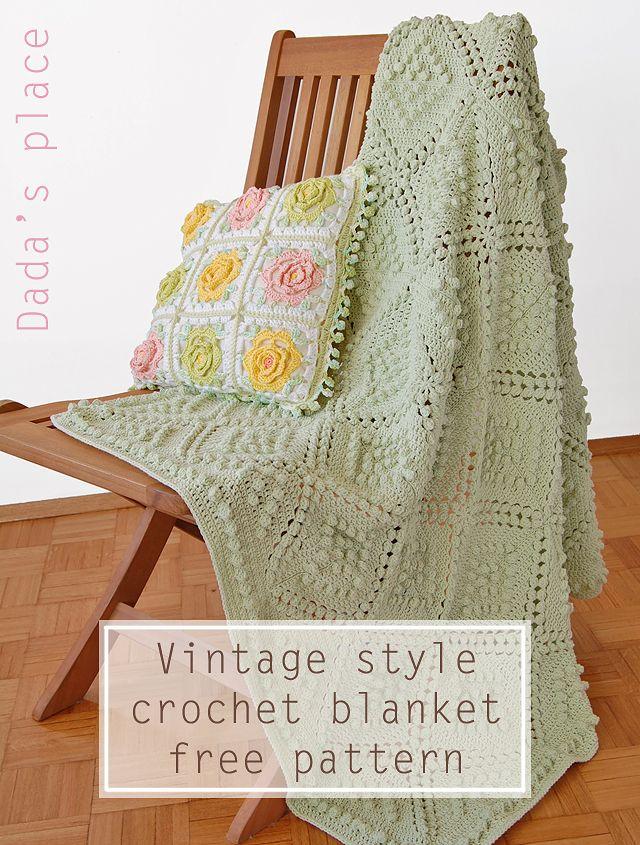 Vintage Style Crochet Blanket Pattern | Dada's place | Bloglovin'