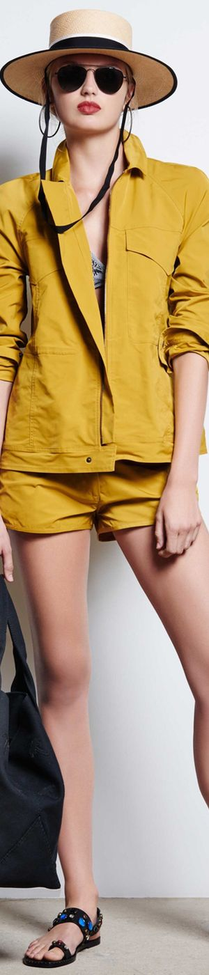 Tomas Maier Spring 2016 RTW yellow women fashion outfit clothing style apparel @roressclothes closet ideas