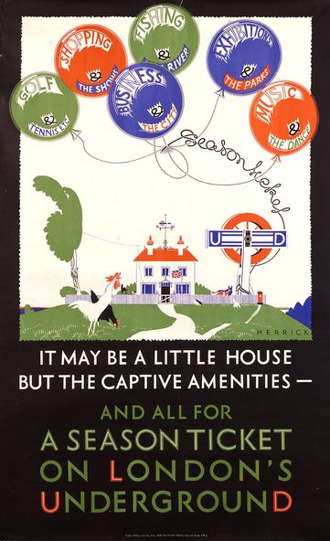 All For a Season Ticket on London's Underground (1925 - Frederick Charles Herrick)