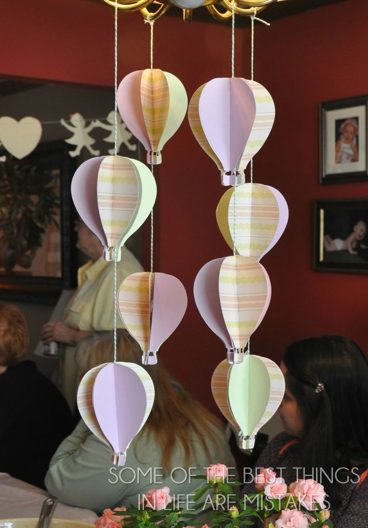 My sister in law Hilary is having a baby girl!  The baby shower was last weekend.  I volunteered to make a hot air balloon decoration.  ...