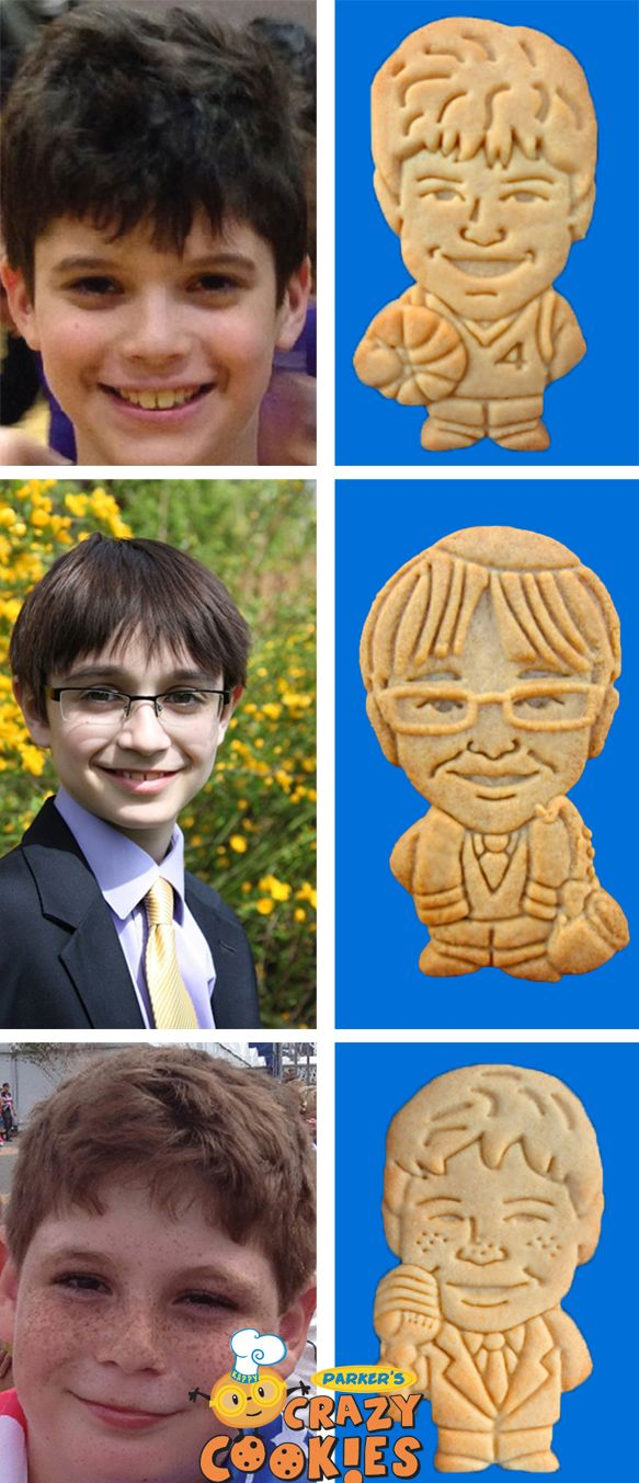 Have an unforgettable bar mitzvah where your guests will giggle with delight! Create a one of a kind custom cookie of your bar mitzvah boy. Discover the magic at www.parkerscrazycookies.com As seen on the Food Network Channel.