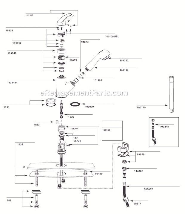 Image Result For Moen Banbury Kitchen Faucet Parts Diagram With