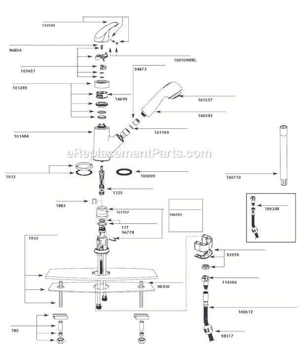 Moen Banbury Kitchen Faucet Replacement Parts