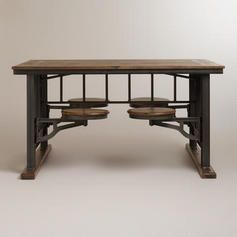 Unique Dining Table With Attached Stool Type Seating. Nice Item For  Decorating The Kitchen/ Part 70