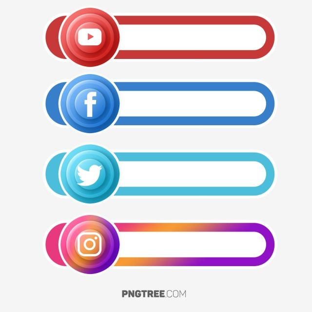 Social Media Button Label Social Media Button Social Media Icons Social Media Png Transparent Clipart Image And Psd File For Free Download Social Media Buttons Social Media Icons Social Media Logos