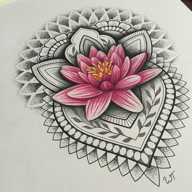 Lotus mandala tattoo by Whitney Thompson