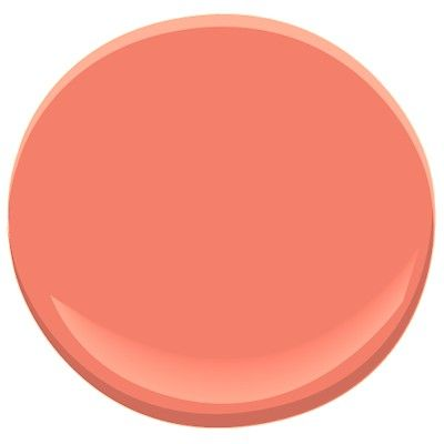 Benjamin Moore's tucson coral 005 is a great coral to choose for your coral paint color pair with a creamy white for best results /  another great paint selection for YOU from jannino painting + design boston / cape cod - clearwater / st pete - ft myers / naples from proposal to finish it's quality work on schedule 239-233-5404