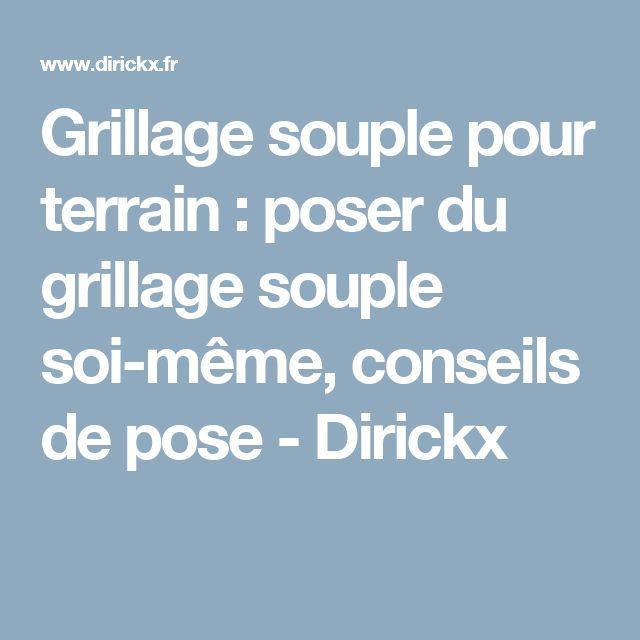 Grillage souple pour terrain : poser du grillage souple soi-même, conseils de pose - Dirickx