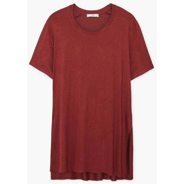 Side Slit T Shirt 11 Liked On Polyvore Featuring Tops