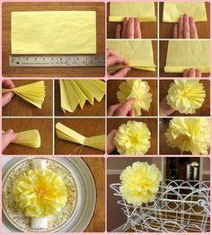 moldes de flores de papel | flor em papel crepom é muito fácil de fazer e requer apenas um ...
