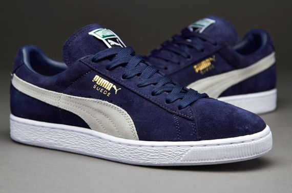 Puma Suede Navy Blue and white