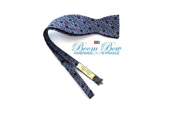 Mens bow tie Pure silk men's self tie bow tie Self Tied Free Shipping