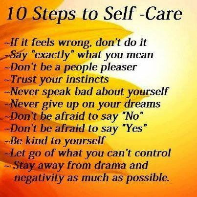 10 steps to self -care