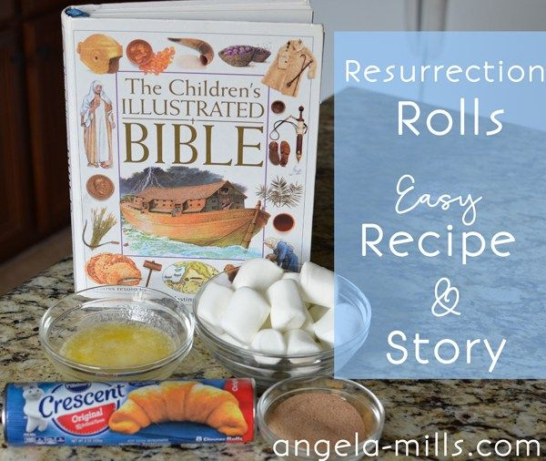 Resurrection Rolls: An Easy Easter Treat. Recipe and verses to read while making this fun Easter treat!